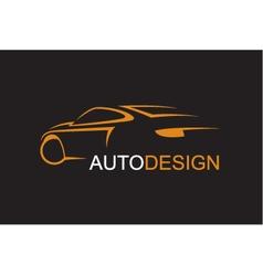 emblem of car vector image
