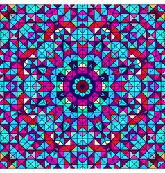 Geometric Color Abstract Retro Pattern vector image