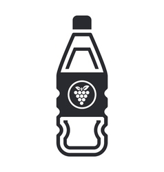 grapes bottle icon vector image