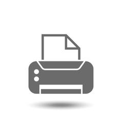 print icon vector image vector image