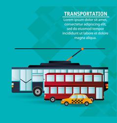 set city public transport vector image