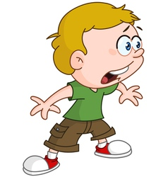 shocked kid vector image