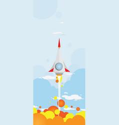 shooting rocket vector image
