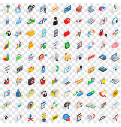 100 it icons set isometric 3d style vector
