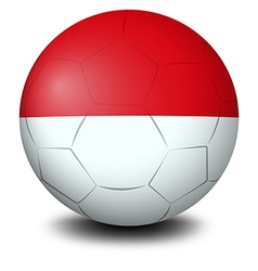 A soccer ball with indonesian flag vector