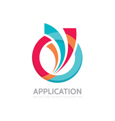 application - business logo concept vector image