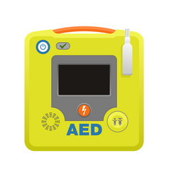Automated external defibrillator aed icon vector