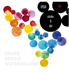 Background watercolor circles vector