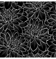 Background with monochrome black and white flower vector