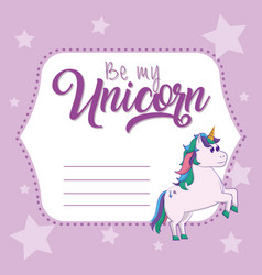 be my unicorn card vector image
