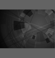 black abstract geometric technology background vector image