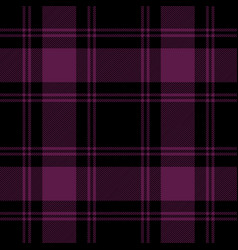 Black and purple tartan plaid seamless pattern vector
