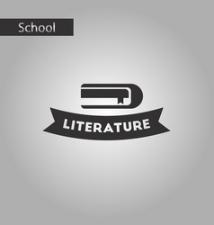 Black and white style icon literature lesson vector