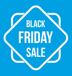 Black friday sale sticker icon white vector