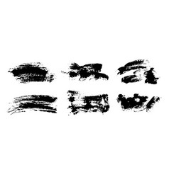 black paint ink brush strokes lines vector image