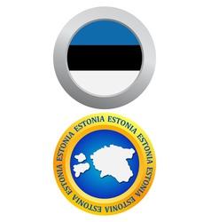 button as a symbol ESTONIA vector image