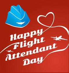 card day flight attendant vector image