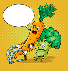 Carrot in trap pop art vector