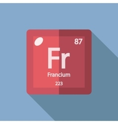 Chemical element Francium Flat vector image