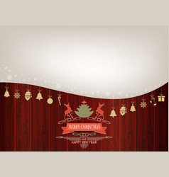 christmas composition with silhouettes of deer vector image