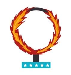 Circus fire hoop icon vector