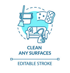 Clean any surfaces turquoise concept icon wash vector