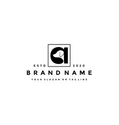 Creative design initials letter a dog vector