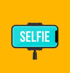 Creative of monopod selfie vector