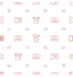 Credit icons pattern seamless white background vector