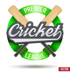 Cricket Sport Label vector image