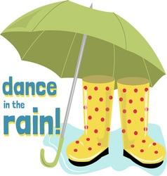 Dance rain vector