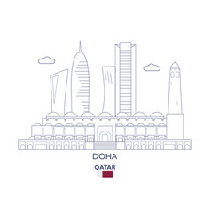doha city skyline vector image