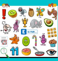 E is for educational task for children vector