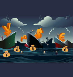 economic crisis concept vector image