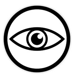 Eye button on white vector image