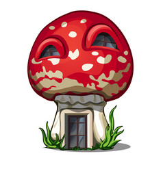 fairy house in the shape of a fly agaric isolated vector image