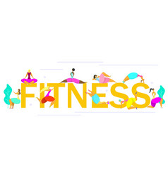 fitness time poster banner design template vector image