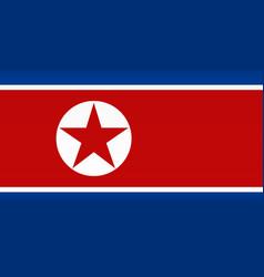 Flag north korea color symbol isolated vector