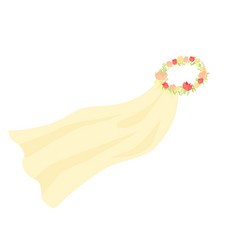 Graphic wedding bridal veil vector