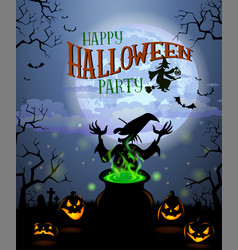 halloween menu template vector image