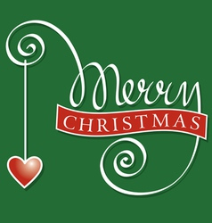 hand lettering merry christmas vector image