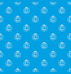 hipster style pattern seamless blue vector image