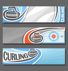 Horizontal banners for curling vector