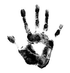 Human hand print vector
