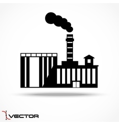 Industrial factory icon on gray background vector