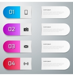Infographics four vector