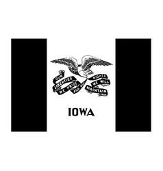 Iowa ia state flag united states america black vector