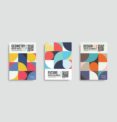 Isolated abstract geometric a4 paper design vector