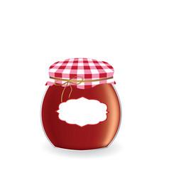 jam jar vector image