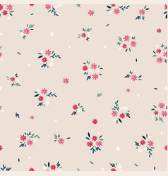 Lovely ditsy floral seamless pattern tiny hand vector